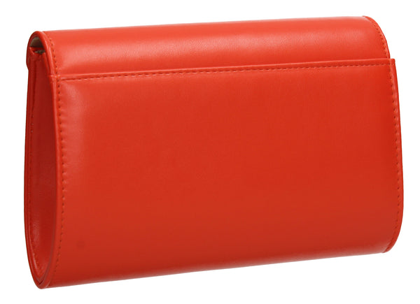 Abby Diamante Clutch Bag - Orange-Clutch Bag-SWANKYSWANS
