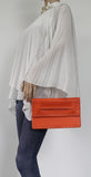Swanky Swans Ciera Clutch Bag Orange Womens Ladies Clutch Bag Cute