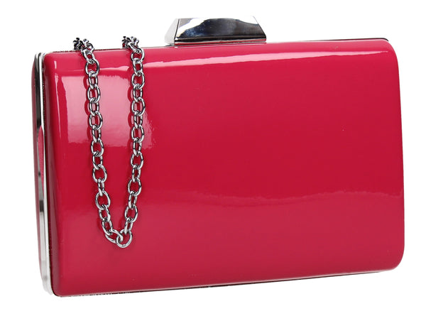 SWANKYSWANS Oregon Clutch Bag Fuchsia Cute Cheap Clutch Bag For Weddings School and Work