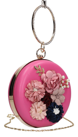 SWANKYSWANS Maria Floral Clutch Bag Pink Cute Cheap Clutch Bag For Weddings School and Work