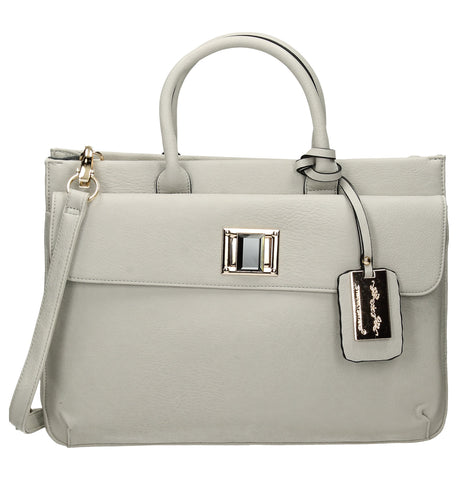 Elle Business Handbag - Light Grey-Handbags-SWANKYSWANS