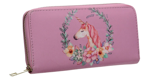 Sammie Unicorn Wallet Pink