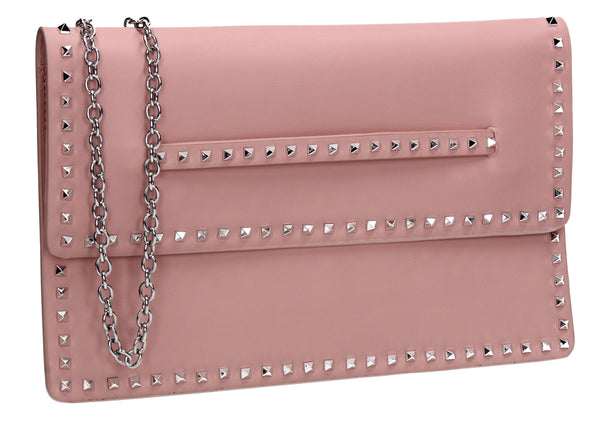 SWANKYSWANS Ciera Clutch Bag Flesh Pink Cute Cheap Clutch Bag For Weddings School and Work