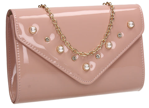 SWANKYSWANS Callie Clutch Bag Pink Cute Cheap Clutch Bag For Weddings School and Work