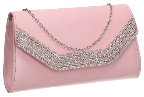 Beautiful Summer Winter Clutch Bag perfect for a party!Harper Clutch Bag Pink SWANKYSWANS
