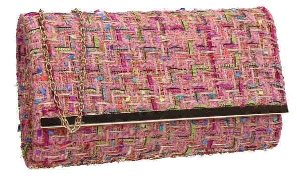 SWANKYSWANS Charlotte Clutch Bag Pink Cute Cheap Clutch Bag For Weddings School and Work