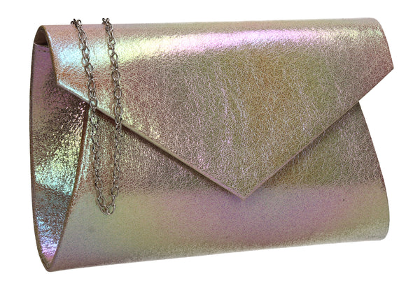 Karina Rainbow Style Clutch Bag Pink