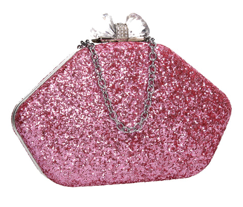 Swanky Swans Mariah Clutch Bag Pink Womens Ladies Clutch Bag Cute