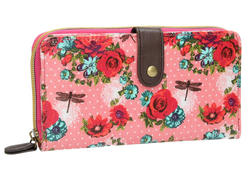 Swanky Swank Hayley Floral Large Bi-Fold Purse PinkCheap Cute School Wallets Purses Bags Animal