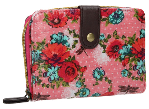 Swanky Swank Hayley Floral Bi-Fold Purse PinkCheap Cute School Wallets Purses Bags Animal