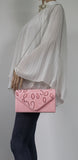 SWANKYSWANS Charlie Clutch Bag Pink Cute Cheap Clutch Bag For Weddings School and Work