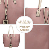 Swanky Swans Nina Reversible Handbag Pink & BeigeCheap Fashion Wedding Work School