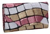 SWANKYSWANS Ana Diamante Clutch Bag Pink Cute Cheap Clutch Bag For Weddings School and Work