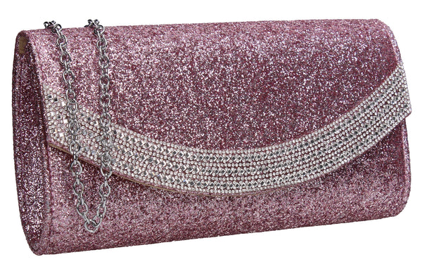 Swanky Swans Dakota Clutch Bag pink Womens Ladies Clutch Bag Cute