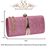 SWANKYSWANS Daisy Clutch Bag Pink Cute Cheap Clutch Bag For Weddings School and Work