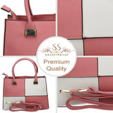 Swanky Swans Olivia Reverse Check Handbag PinkCheap Fashion Wedding Work School