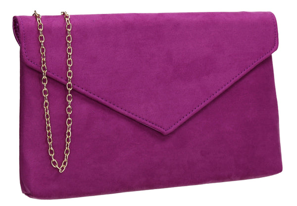 SWANKYSWANS Rosa Clutch Bag Purple Cute Cheap Clutch Bag For Weddings School and Work