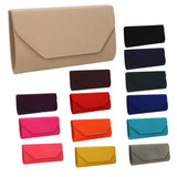 SWANKYSWANS Isabella Velvet Clutch Bag Royal Blue Cute Cheap Clutch Bag For Weddings School and Work