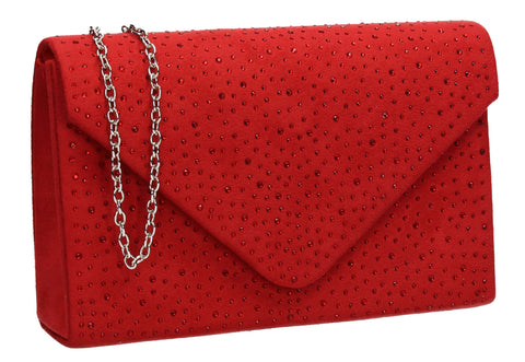 Sidney Diamante Clutch Bag Red Swanky Swans Beautiful Clutch Fun Party Glitter Animal Sequin Clutch Bag