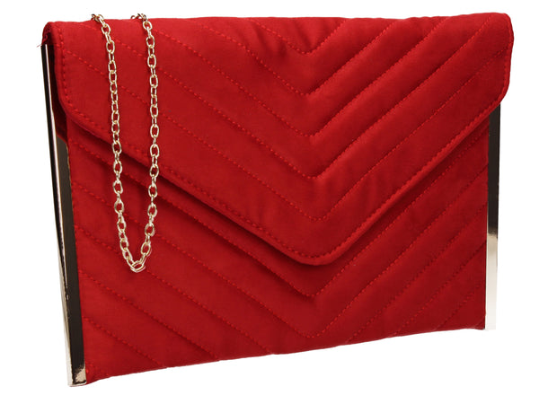 SWANKYSWANS Tessa Clutch Bag Red Cute Cheap Clutch Bag For Weddings School and Work