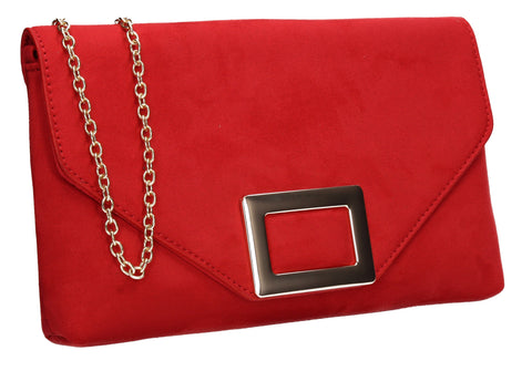 SWANKYSWANS Georgia Clutch Bag Red