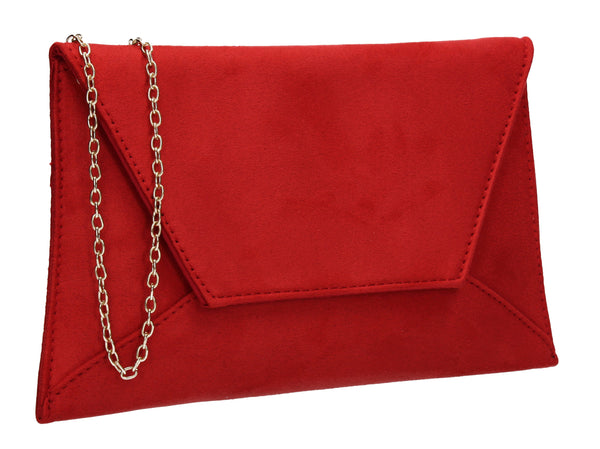 Dory Envelope Clutch Bag Red