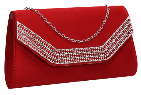 Beautiful Summer Winter Clutch Bag perfect for a party!Harper Clutch Bag Red SWANKYSWANS