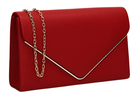 Erica Envelope Clutch Bag Red