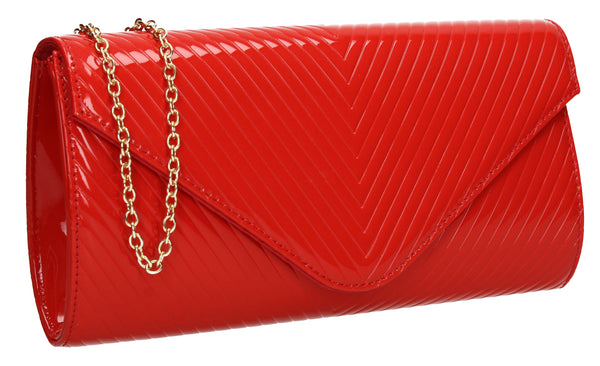 SWANKYSWANS Vanesa Clutch Bag Red Cute Cheap Clutch Bag For Weddings School and Work