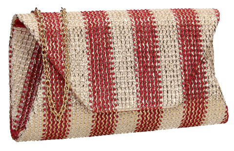 SWANKYSWANS Brook Clutch Bag Red Cute Cheap Clutch Bag For Weddings School and Work