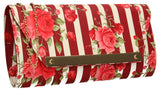 SWANKYSWANS Nicole Stripey Clutch Bag Red Cute Cheap Clutch Bag For Weddings School and Work