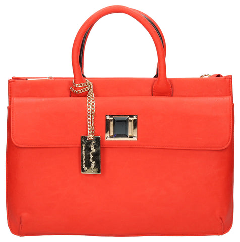Elle Business Handbag - Red-Handbags-SWANKYSWANS