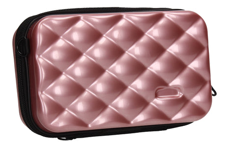 Natalia Acrylic Shell Compact Box Crossbody Bag Rose Gold