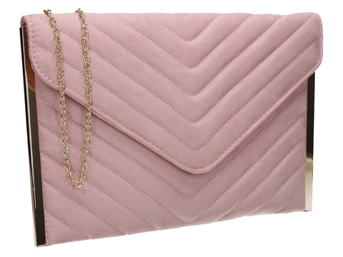SWANKYSWANS Tessa Clutch Bag Pink Cute Cheap Clutch Bag For Weddings School and Work