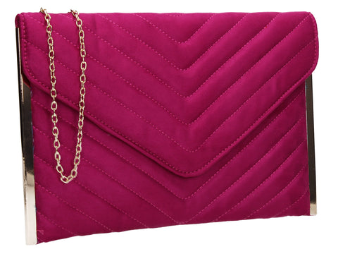 SWANKYSWANS Tessa Clutch Bag Rose Red Cute Cheap Clutch Bag For Weddings School and Work