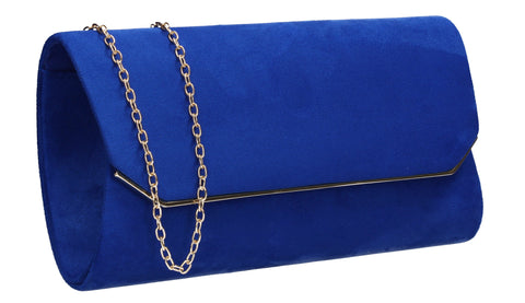 Anny Suedette Clutch Bag Royal Blue