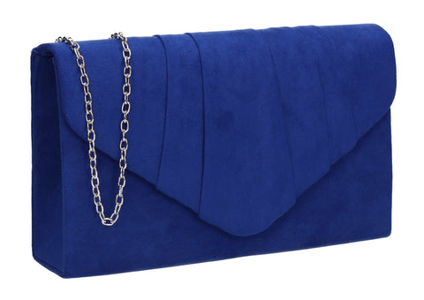 Iggy Faux Suede Clutch Bag Royal Blue