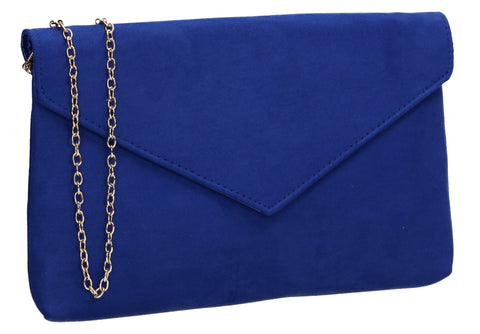 SWANKYSWANS Rosa Clutch Bag Royal Blue Cute Cheap Clutch Bag For Weddings School and Work