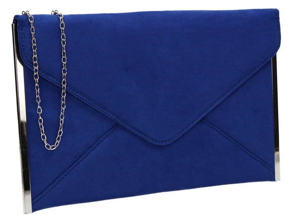 Louis Slim Clutch Bag Royal Blue
