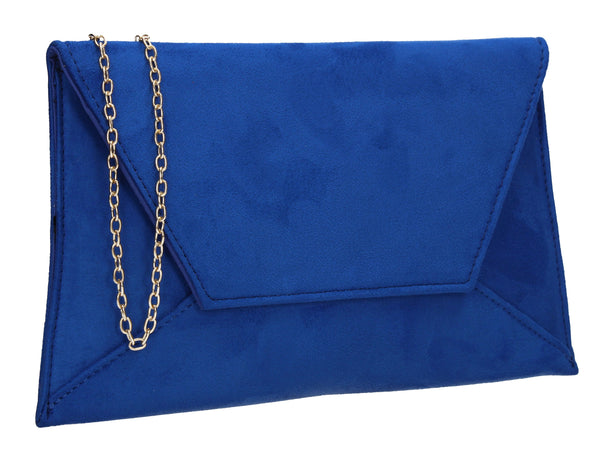 Dory Envelope Clutch Bag Royal Blue