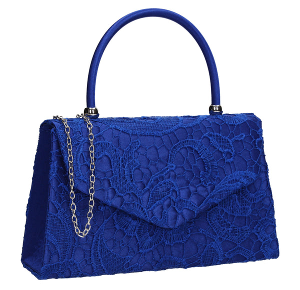 Kendall Lace Clutch Bag Royal Blue