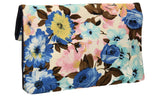 Hannah Floral Clutch Bag Blue