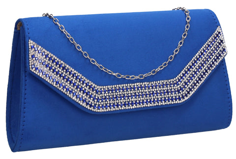 Beautiful Summer Winter Clutch Bag perfect for a party!Harper Clutch Bag Royal Blue SWANKYSWANS