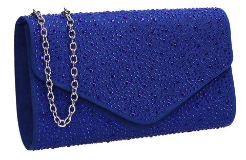 SWANKYSWANS Cadence Clutch Bag Royal Blue Cute Cheap Clutch Bag For Weddings School and Work