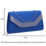 SWANKYSWANS Harper Clutch Bag Royal Blue Cute Cheap Clutch Bag For Weddings School and Work