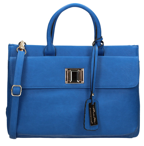 Swanky Swans Elle Business Handbag Azure BlueCheap Fashion Wedding Work School