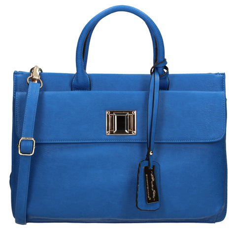 Elle Business Handbag - Azure Blue-Handbags-SWANKYSWANS