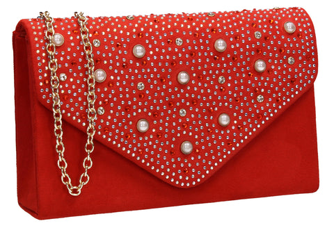 Laurel Clutch Bag Scarlet Orange for Prom, Weddings And more!