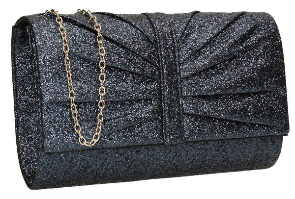 SWANKYSWANS Serafina Clutch Bag Navy Blue Cute Cheap Clutch Bag For Weddings School and Work