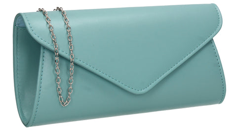 Lora Plain Envelope Clutch Bag Serenity Blue